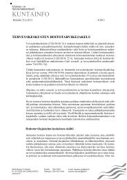 Kuntainfo nr 4/2013, STM ja Kuntaliitto - Kunnat.net