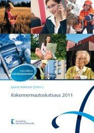 Rakennemuutoskatsaus 2011 - Kunnat.net