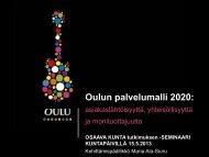 Oulun palvelumalli 2020 - Kunnat.net