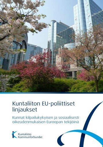 Kuntaliiton EU-poliittiset linjaukset - Kunnat.net
