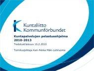 Kuntapalvelujen pelastusohjelma 2010-2013 - Kunnat.net