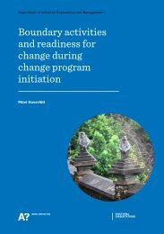 Boundary activities and readiness for ... - Projekti-Instituutti