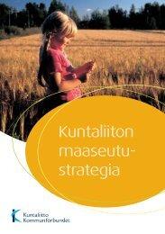 Kuntaliiton maaseutustrategia - Kunnat.net