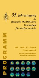 Programm Nuklearmedizin Dortmund 2008 - RWGN