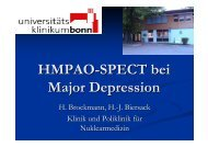 HMPAO-SPECT bei Major Depression - RWGN