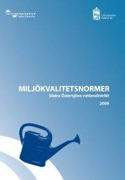 Beslut om Miljökvalitetsnormer 2009-2015 för Södra Östersjöns ...