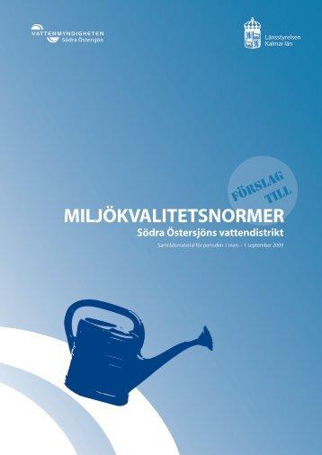 Södra Östersjön - Vattenmyndigheterna