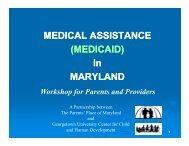 MEDICAL ASSISTANCE (MEDICAID) - National Center for Family ...