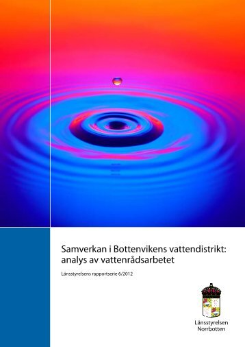 Samverkan i Bottenvikens vattendistrikt: analys av ... - DiVA