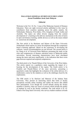 Full text malaysian journal of distance education usm full text malaysian journal of distance education malvernweather Gallery