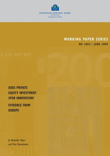 Does private equity investment spur innovation? - European Central ...
