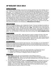 AP Biology Handbook
