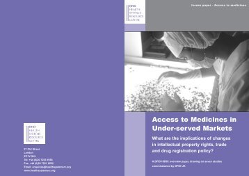 Access to Medicines in Under-served Markets - Health and ...