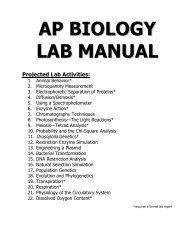 How to Write a Lab Report for AP BIOLOGY