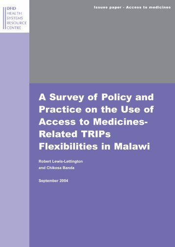 A Survey of Policy and Practice on the Use of Access to ... - HLSP