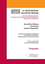 16. Hochschultage Berufliche Bildung Übergänge Logo
