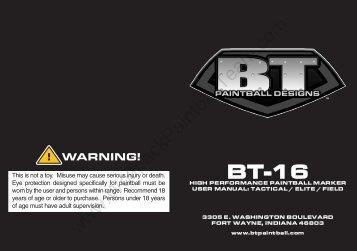 BT-16 Manual - Wolfpack Paintball Team
