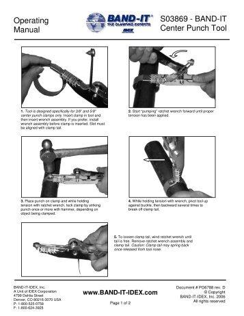 A92079 Tie-Lok II Tool Operating Instructions