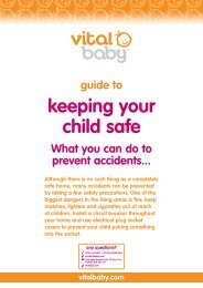 keeping your child safe - Vital Baby