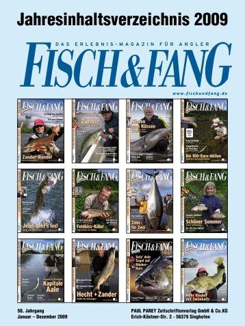 Jahresinhaltsverzeichnis 2009 - Fisch und Fang