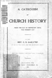A catechism of church history : from the day of ... - Scholars Portal