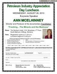 ANN MCELHINNEY - Montana Petroleum Association