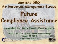 Future Compliance Assistance - Montana Petroleum Association
