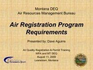 Air Registration Program Requirements - Montana Petroleum ...