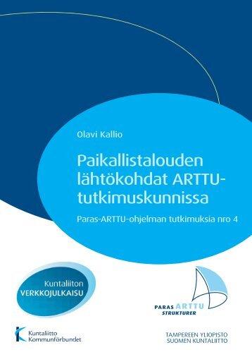Paikallistalouden lähtökohdat ARTTU-tutkimuskunnissa - Kunnat.net