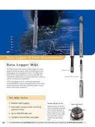 WTW Lab Catalog 2012, Data Logger and Flow ... - Xylem Analytics