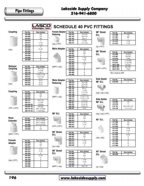 412-010 1 MIPT x FIPT 90 Street Elbow PVC Schedule 40