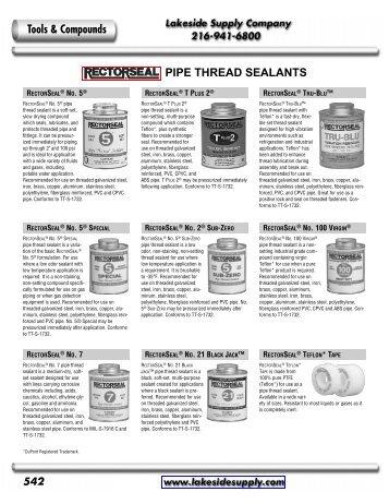 Rectorseal - Lakeside Supply Company