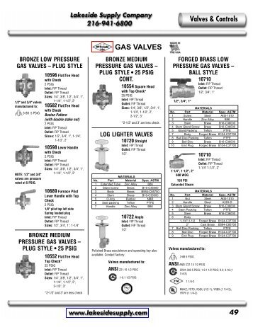 McDonald: Gas and Water Valves - Lakeside Supply Company
