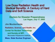 Low Dose Radiation Health and Medical Benefits: A Century of Hard ...