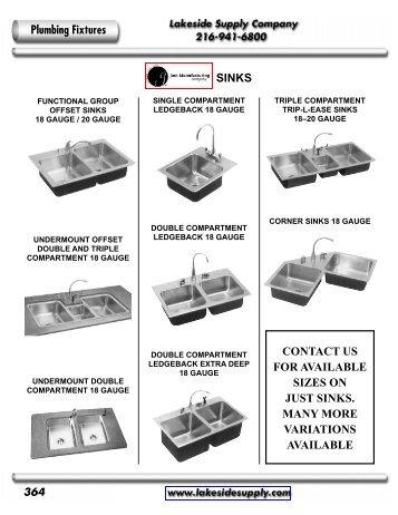 SINKS - Lakeside Supply Company