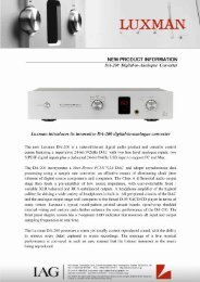 NEW PRODUCT INFORMATION - XFAudio