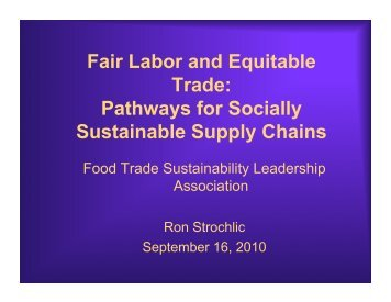 Pathways for Socially Sustainable Supply Chains