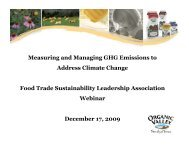 Measuring and Managing GHG Emissions to Address Climate ...