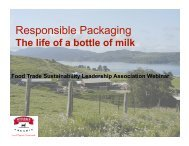 Responsible Packaging - Sustainable Food Trade Association
