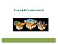 Responsible Packaging Awards - Sustainable Food Trade Association