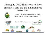 FTSLA Greenhouse Gas Management Webinar - Sustainable Food ...