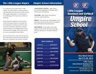One Week School April 15-20, 2012 Little League International ...