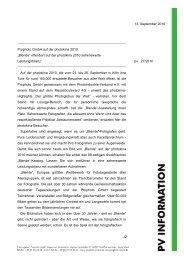 13. September 2010 Prophoto GmbH auf der photokina 2010 ...