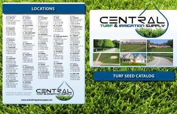TURF SEED CATALOG LOCATIONS - Central Turf & Irrigation Supply