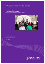 Information Pack Project Manager SD-WSB