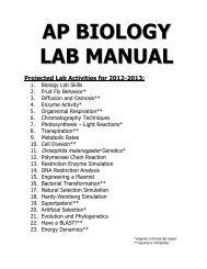 ap biology lab manual