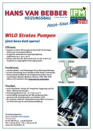 Information zu WILO Stratos Pumpen - Hans van Bebber ...