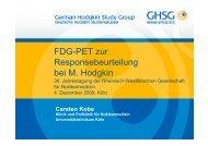 FDG-PET zur Responsebeurteilung bei M. Hodgkin - RWGN