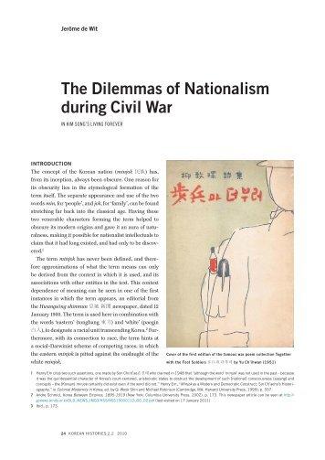 The Dilemmas of Nationalism during Civil War: In ... - Korean Histories