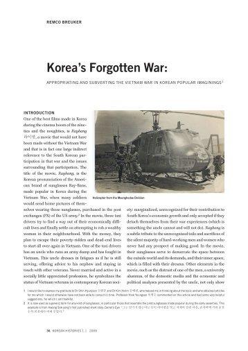 Korea's forgotten war: Appropriating and ... - Korean Histories